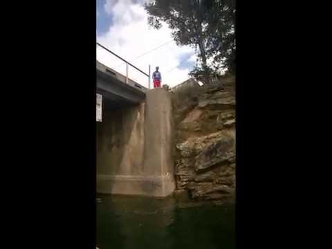 Dad Jumping from a Bridge!