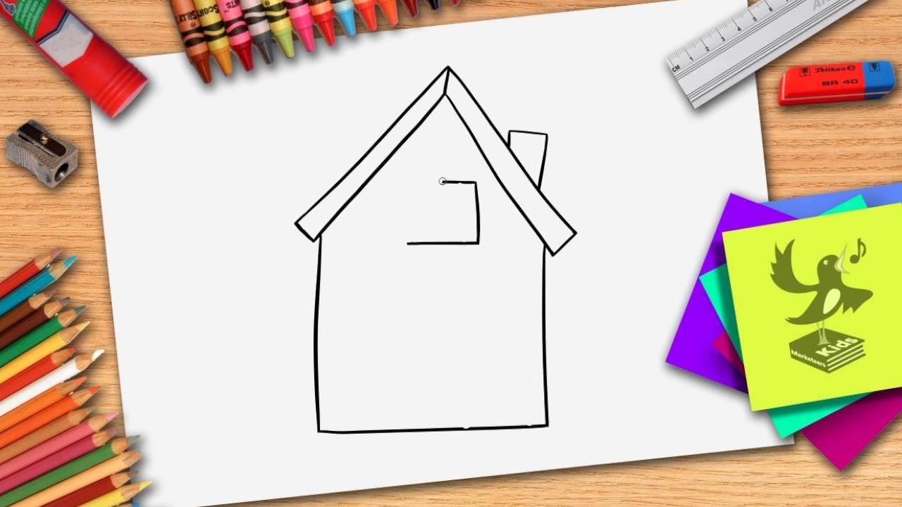 Hoe teken je een huis zelf een huisje leren tekenen youtube - Hoe je je huis regelt ...