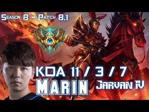 MaRin JARVAN IV vs JAYCE Top - Patch 8.1 KR Ranked