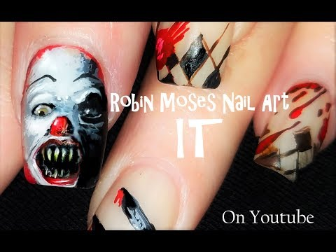 Are you ready for IT? here IT is! IT Nails haha! A FULL length Stephen King Nail Art  Tutorial!!!