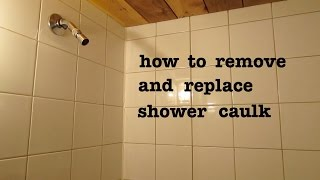 How to ● remove old shower silicone caulk and apply new ● and look pro