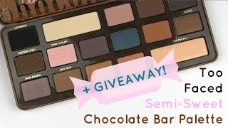 Too Faced Semi-Sweet Chocolate Bar Palette: Live Swatches, Review, GIVEAWAY Thumbnail