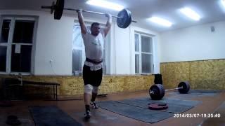 Тяжелая атлетика - толчок 105кг х 3п