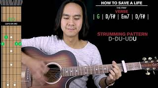 How To Save A Life Guitar Cover The Fray 🎸 |Tabs + Chords|