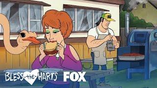 The Harts Have A BBQ  Season 1 Ep 6  BLESS THE HARTS