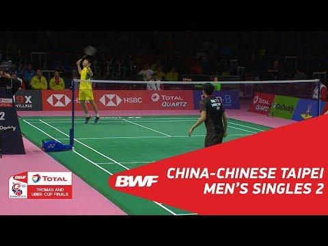 Thomas Cup | MS2 | SHI Yuqi (CHN) vs WANG Tzu Wei (TPE) | BWF 2018