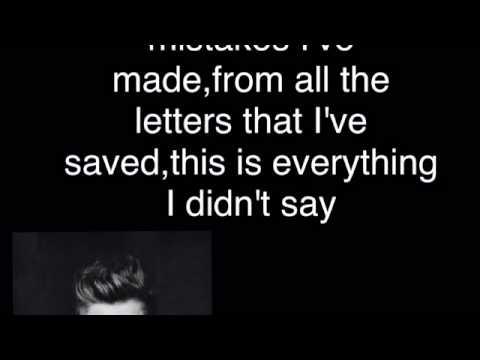 Everything I didn't say-5sos lyrics Mp3