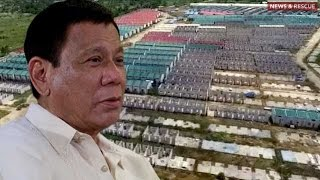 Duterte prioritizes completion of housing units for Yolanda victims