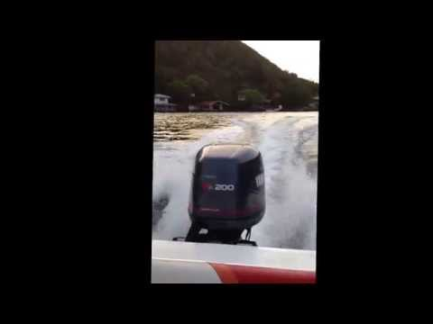 22 Bowen Marine speedboat with Yamaha 200 down the islands T