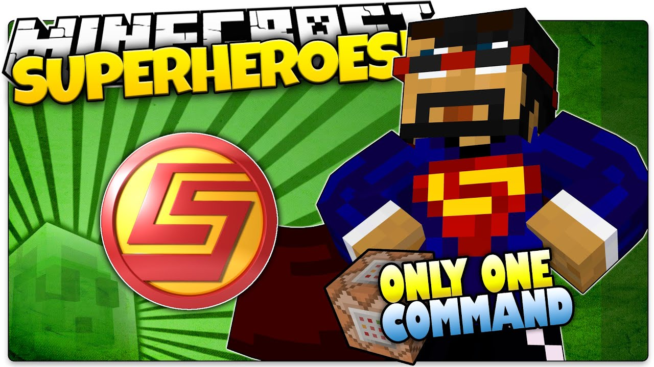 minecraft super hero command