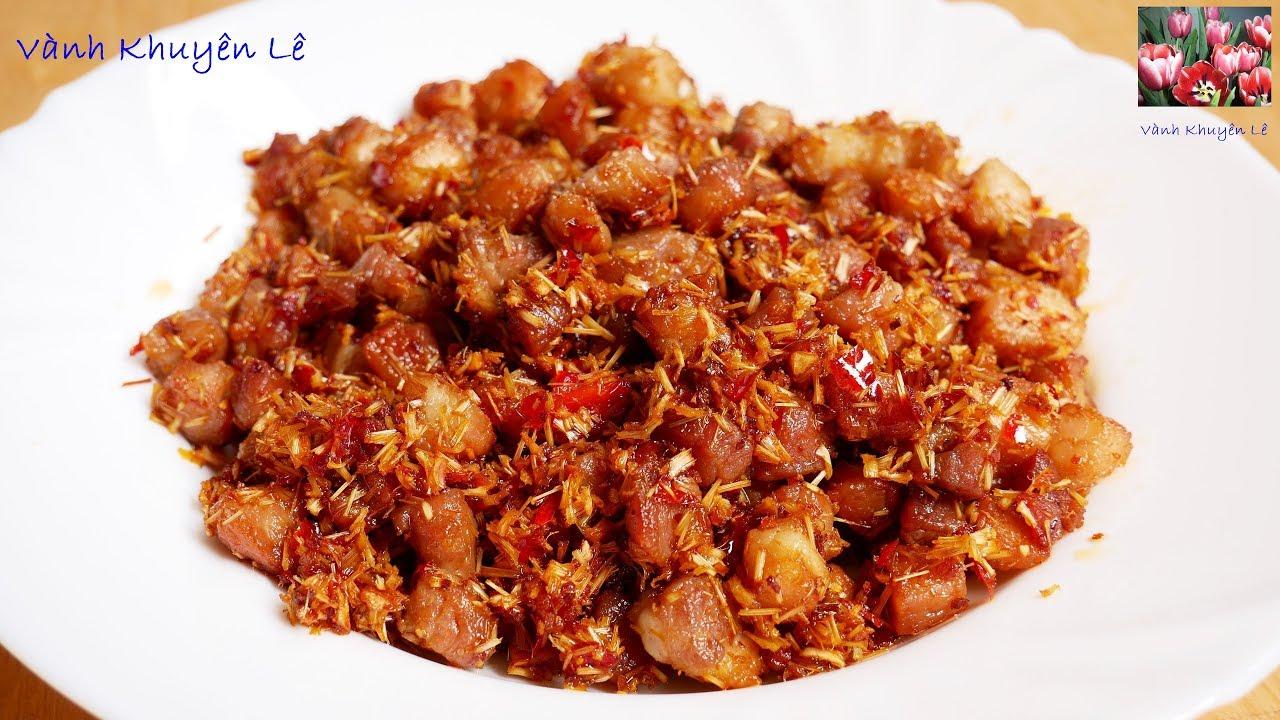 BA RỌI RANG SẢ ỚT - Cách làm món Thịt rang Sả Ớt nhanh gọn lẹ ngon ơi là ngon by Vanh Khuyen
