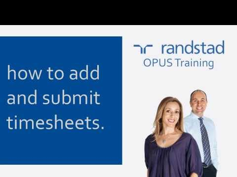 OPUS - How To Add And Submit Timesheets