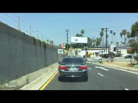 Driving From Downtown LA (Los Angeles), to Hollywood on the 101 Freeway
