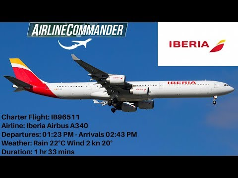 airline-commander-iberia-airbus-a340-(mad)-madrid-🇪🇸🛫🛬🇬🇧-(lhr)-london