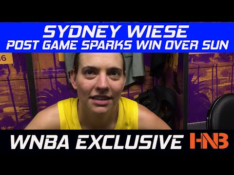Pavy Catches up with LA Sparks Guard Sydney Wiese Post Game After Sparks Win over Connecticut Sun