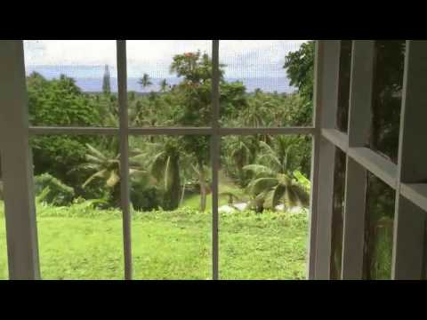 Hill house in American Samoa