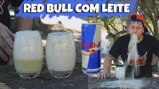 Desafio do Red Bull com Leite