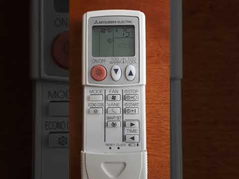 Mitsubishi Electric Mr Slim Fahrenheit to Celsius