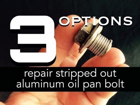 Stripped Oil Pan Bolt Hole Repair - Stripped out Aluminum Oil Pan Fix - Bundys Garage