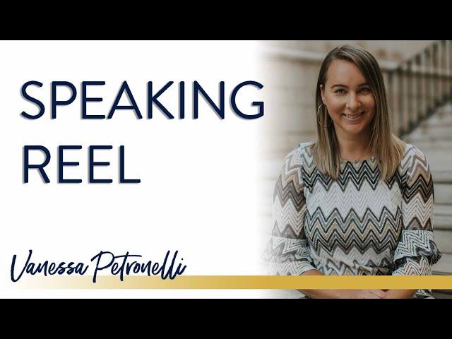 Vanessa Petronelli Speaking Reel Revamp
