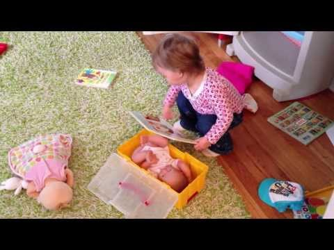Adalyn (2 Years) Putting Her Baby Doll to Bed