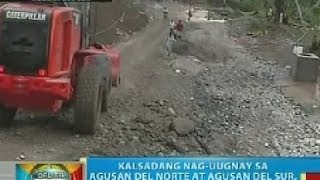 BP: Kalsadang nag-uugnay sa Agusan del Norte at Agusan del Sur, nasira ng pag-ulan