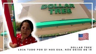 DOLLAR TREE - LOJA TUDO POR $1 DÓLAR NOS EUA - ONDE COMPRAR BARATO NOS EUA