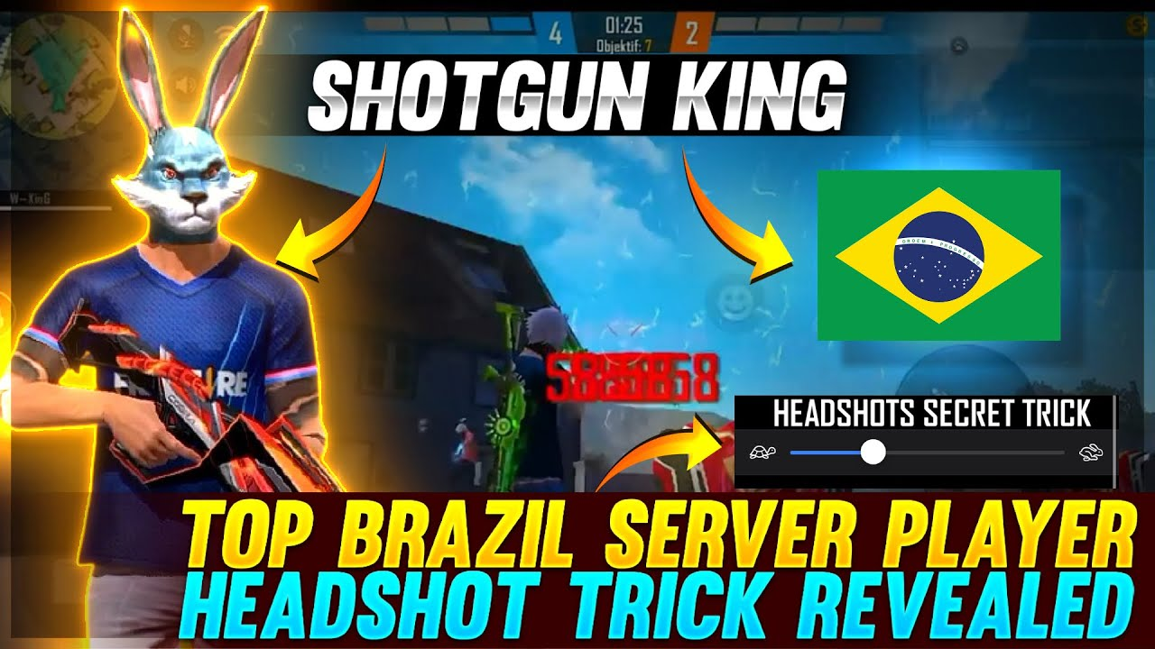 Top Brazil Player Headshot Trick Revealed 😱   He Is ShotGun King Ft.WhiteFf    Must Watch 😮  