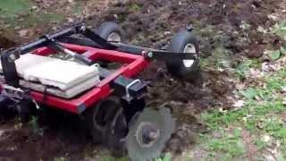 ATV food plots with a Howse ATV disc harrow.