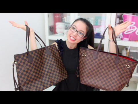 Louis Vuitton Neverfull Mm Replica Vs Authentic Rosellalee Youtube