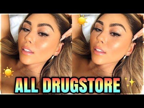 drugstore sunkissed skin summer makeup look + faux freckles | roxette arisa