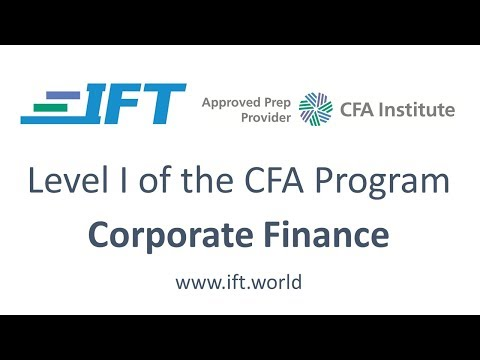 Level I CFA: CF R36 Cost of Capital-Lecture 4