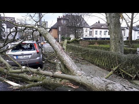 Sturm Friederike über Bochum 2018