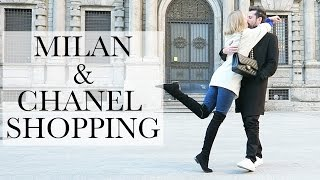 COME SHOPPING IN MILAN WITH ME | CHANEL PRESENT | BEST PIZZA IN MILAN | THECABLOOK
