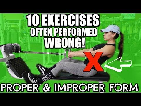 10 EXERCISES OFTEN DONE WRONG! Proper & Improper Form