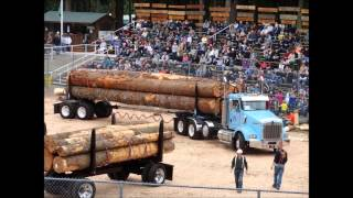 2012 Deming logging show vintage Kenworth Peterbilt logging trucks.