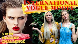 5 Minute Makeup challenge with Samantha Moffat | Funny fails