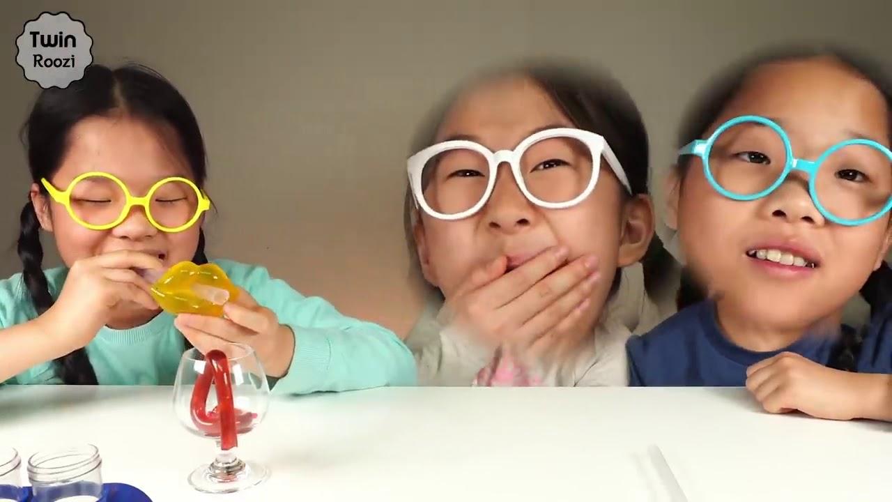 TwinRoozi 입술 젤리 Lip Jelly Mukbang TwinRoozi 쌍둥이루지 먹방