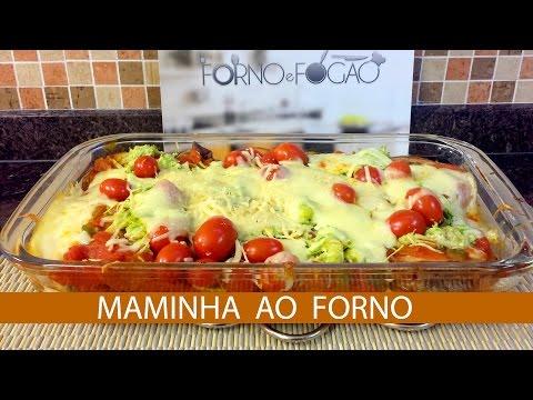 MAMINHA AO FORNO COM BERINJELA