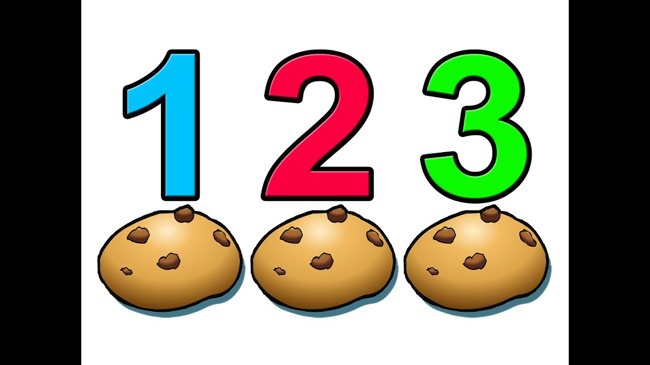 worksheet Counting Numbers counting cookies learn to count numbers 1234 preschool children youtube