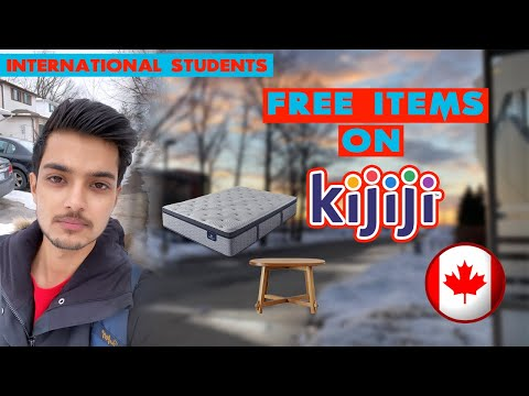 How To Get FREE Items In CANADA Online| Kijiji | International Students |Vlog4