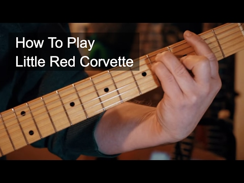 Little Red Corvette Chords Prince Guitar Tutorial