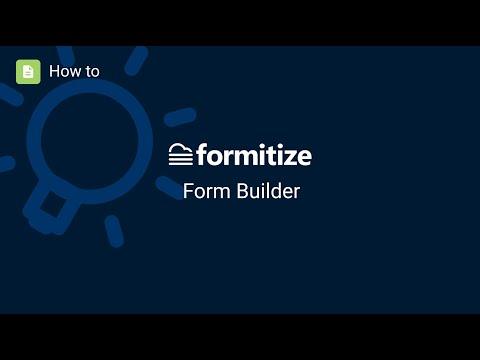 Formitize Form Builder
