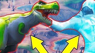 Fortnite Dance Between Sculptures, Dinosaurs & Hot Springs  | Week 9 Challenge
