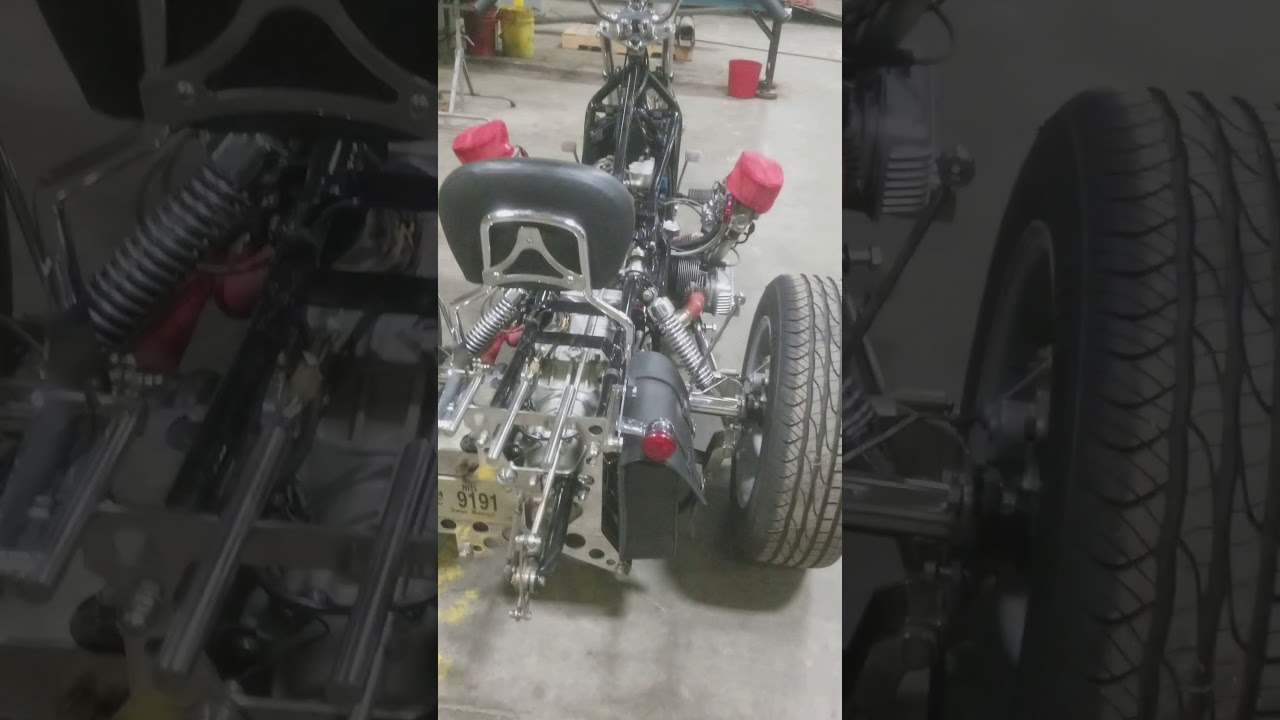 Front Engine VW trike build walk around. - YouTube