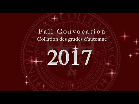 McGill University Fall Convocation PM