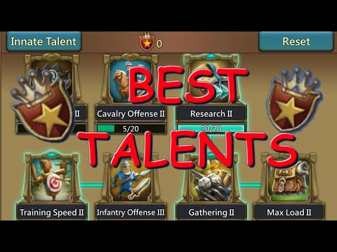 Best War And Farming Talents | Lords Mobile