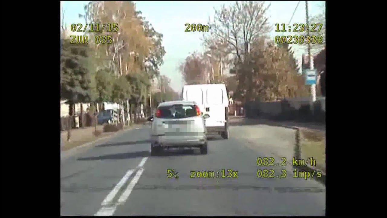 Pościg ulicami Ostrowa Wlkp. - nagranie z wideorejestratora