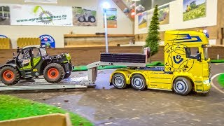 AWESOME RC trucks, tractors and more in ACTION! 1/32 scale!