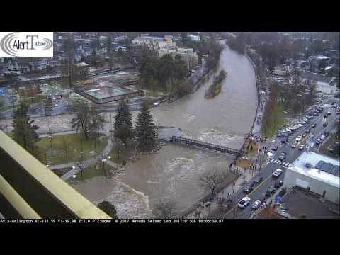 AlertTahoe: January 2017 Truckee River Flood Event: 24 Hour Time Lapse
